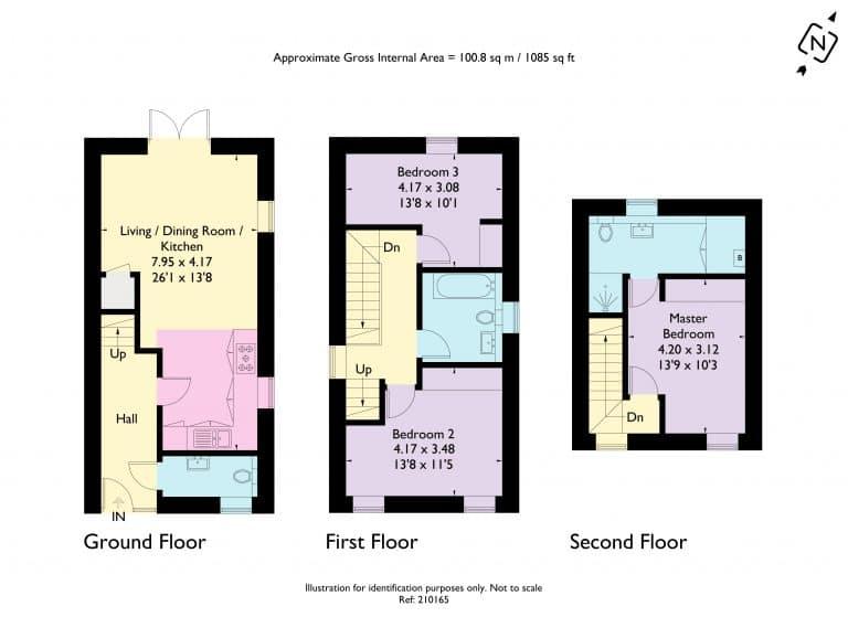 Illustrations option 1 of Plot 212 & 1398 at Graven Hill