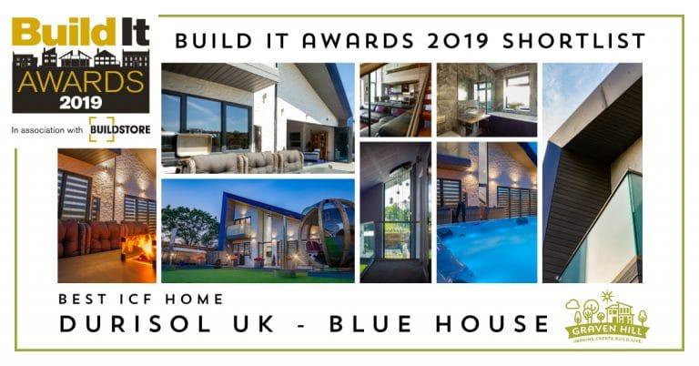 Build It Awards Shortlist - Best ICF Home - Durisol - Blue House