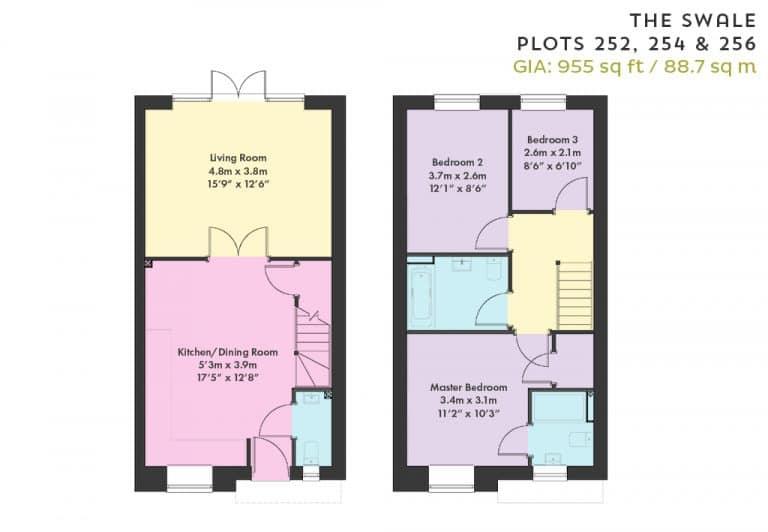 Floorplan - Plots 252, 254 & 256