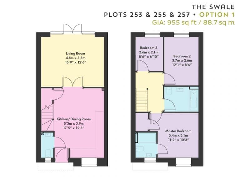 Floorplan - Plots 253, 255 & 257 - Option 1