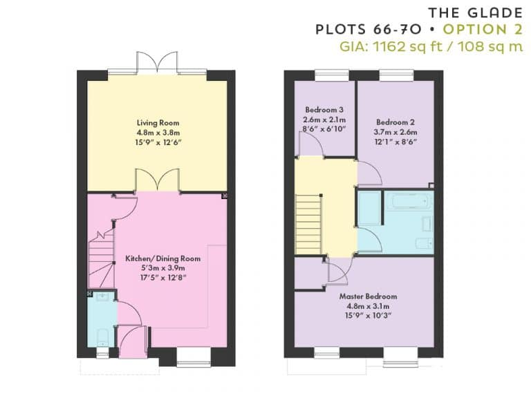 Floorplan - Plots 66-70 - Option 2