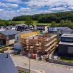 July 2020 - Self-Build home in progress on street scene