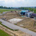 May 2020 - Construction underway on Crescent Self-Build Plots