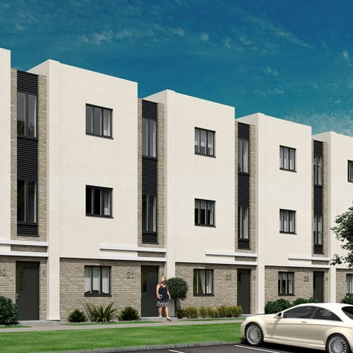 Plot 20 - 25 notional designs for Tailored Finish homes at Graven Hill