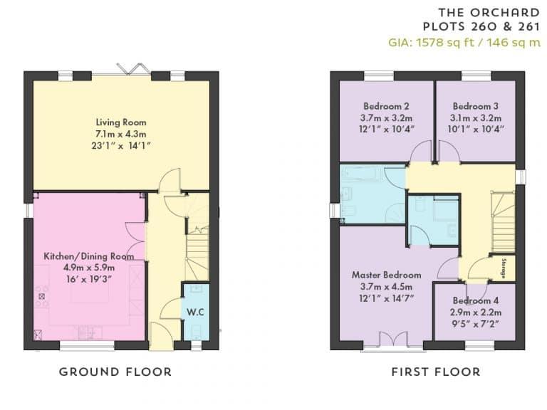 Plot 259 & 262 & 263 - Floorplan - The Meadow