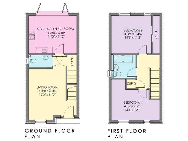 Plot 75 & 77 - Floorplan - Option 2