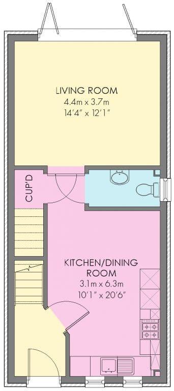 The Darwin Floorplan - Ground Floor - Plot 99