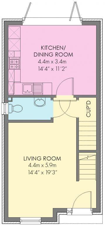 The Tilbury Floorplan - Ground Floor