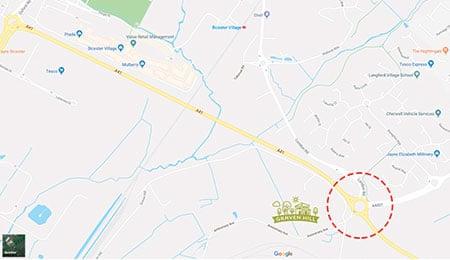 Map of road improvements at Graven Hill